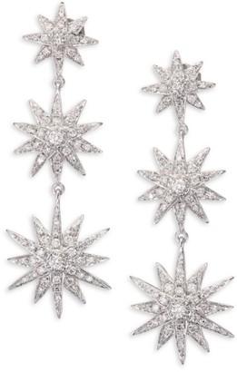 Shay Diamond & 18K White Gold Starburst Drop Earrings