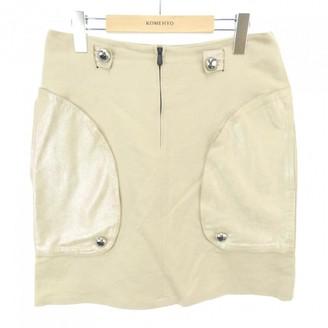 Bottega Veneta Beige Linen Skirt for Women