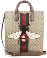 Gucci Web Animalier Bee-appliqué Canvas Tote