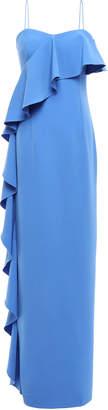 Sachin + Babi Ruffled Stretch-crepe Gown