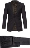 GIEVES & HAWKES Peak-lapel single-breasted wool tuxedo