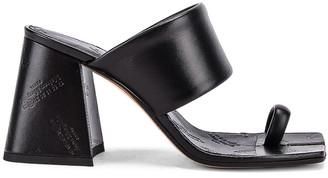 Maison Margiela Tabi Sandals in Black   FWRD