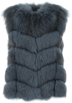 Yves Salomon Sleeveless Fox Gilet