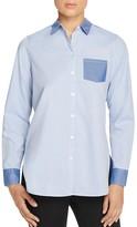 Foxcroft Color Block Button Down Shirt