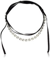 "ABS by Allen Schwartz Rock Stars"" Square Stone Wrap Choker Necklace"