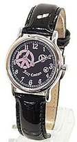 Juicy Couture Princess Women's Watch 1900589 Peace Sign Black Patent Leather Strap