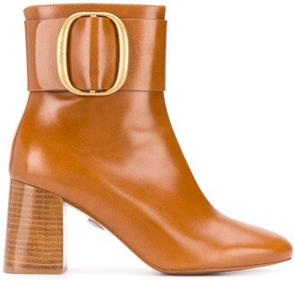 See by Chloe Hopper leather ankle boots
