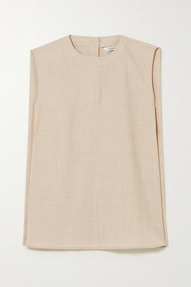 LE 17 SEPTEMBRE Tie-detailed Wool Top - Ecru