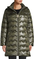 Kate Spade Scallop-Quilted Down Coat