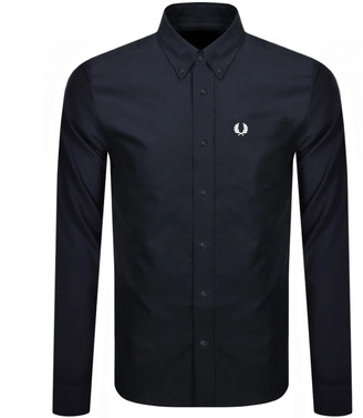 Fred Perry Oxford Long Sleeved Shirt Navy