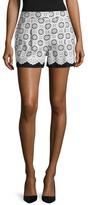 Oscar de la Renta Eyelet High-Rise Cotton Short