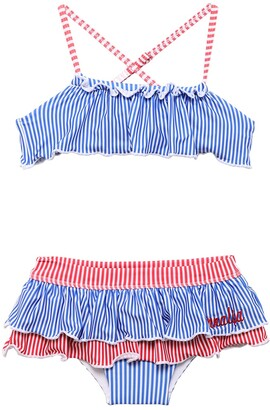 MonnaLisa Striped Print Bikini