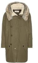 Saint Laurent Cotton Parka With Fur-lined Hood