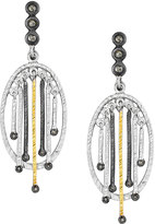 Coomi Spring Tricolor Earrings with Diamonds