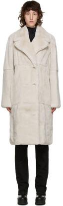 Yves Salomon Off-White Fur Coat