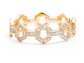 ONE JEWELRY Elza 14K Diamond Link Ring