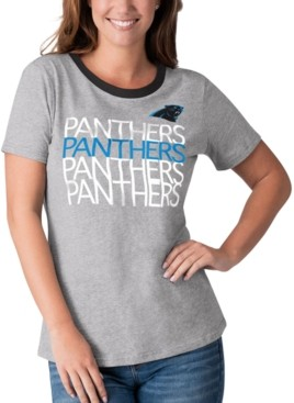 Carolina Panthers Claw Scratch Football Maternity Black Scoop Neck