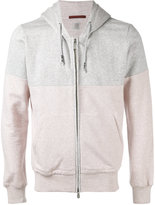 Eleventy two-tone zipped hoodie - men - Cotton - S