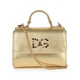 Dolce & Gabbana Dolce & Gabbana*EXCLUSIVE* Girls Gold Leather Shoulder Bag