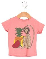 Mini Rodini Girls' Monkey Print Short Sleeve Top