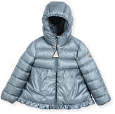 Moncler Odile Ruffle-Trim Puffer Jacket, Size 12M-3