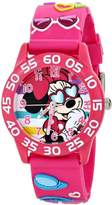 Disney Kids' W001524 Minnie Mouse Watch with Pink 3D Plastic Band