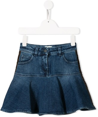 Fendi Flared Denim Skirt