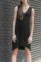 Lilla P V-Neck Rib Trim Dress