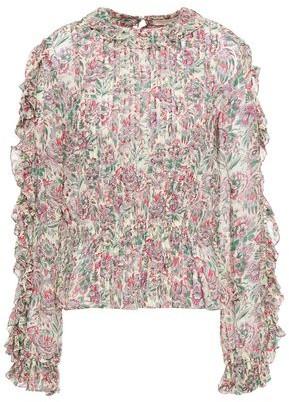 Vanessa Bruno Lina Pleated Floral-print Crepe Blouse