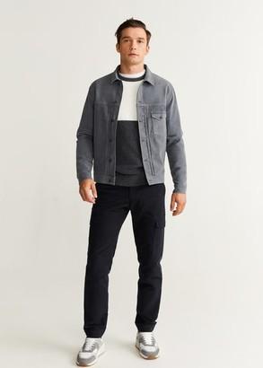 MANGO Washed cotton-blend jacket