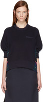 Sacai Navy Tribal Lace Pullover