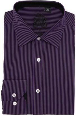 English Laundry Regular Fit Textured Stripe Dress Shirt
