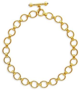 Elizabeth Locke Gold Rimini 19K Yellow Gold Medium-Link Toggle Necklace