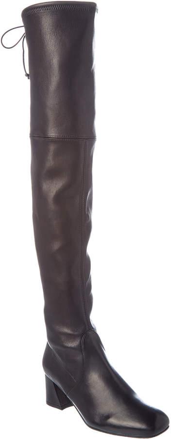 Stuart Weitzman Mylana Leather Over-The-Knee Boot