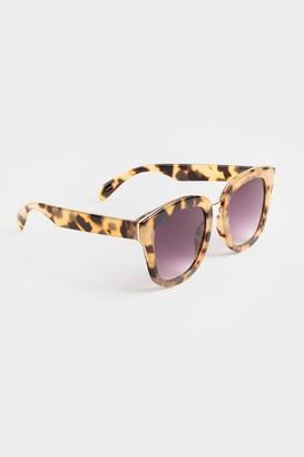 francesca's Tatyana Square Milky Tortoise Sunglasses - Tortoise