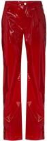 Kirin vinyl-effect trousers