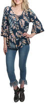 Love Stitch Lovestitch Floral Bell Sleeve Top