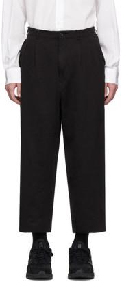 Comme des Garcons Homme Black Linen Twill Garment-Dyed Trousers