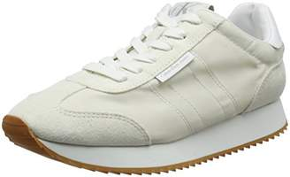 Calvin Klein Jeans Women's Colette Nylon/Suede Low-Top Sneakers, Off White (Ofw 000)