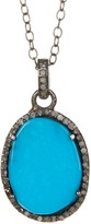 ADORNIA Mirage Turquoise & Champagne Diamond Necklace