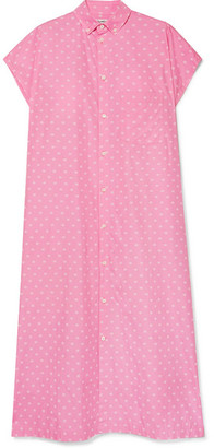 Balenciaga Printed Cotton-poplin Shirt Dress - Baby pink