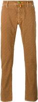Jacob Cohen checked slim-fit trousers - men - Cotton/Spandex/Elastane - 32