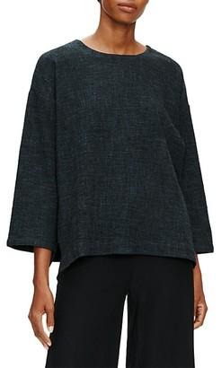 Eileen Fisher Roundneck Bracelet-Sleeve Top