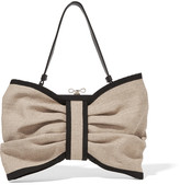 RED Valentino Leather-trimmed canvas shoulder bag