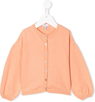 Knot Ballon Sleeve Cardigan
