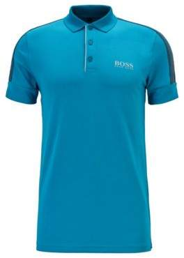 Slim-fit golf polo shirt with S.Caf