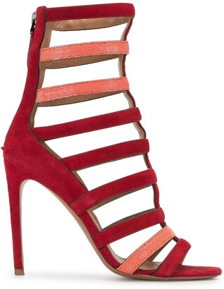 Alaïa Pre Owned High Gladiator Sandals