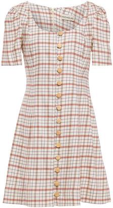 Nicholas Checked Tencel-blend Mini Dress