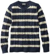 L.L. Bean Double L Sweater Mixed-Cable Pullover, Crewneck
