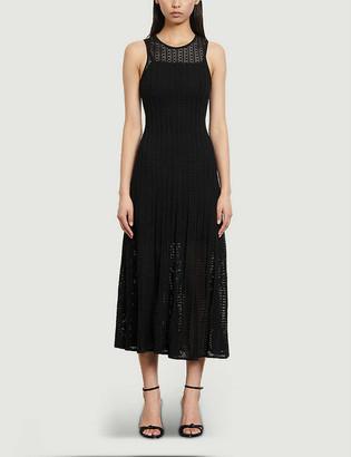 Sandro Aleane sleeveless stretch-knit midi dress